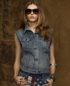 Jacket, Sleeveless Flag Denim Vest