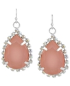 Haskell Earrings, Silver-Tone Glass Crystal Pink T