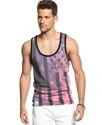 Shirt, Galaxy Flag Graphic Tank