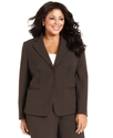 by ASL Plus Size Jacket, Two-Button Blazer