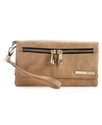 Handbag, Wooster Street Double Gusset Flap Clutch 
