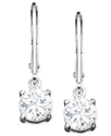 Sterling Silver Earrings, Cubic Zirconia (2 ct. t.