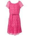Girls Dress, Girls Belted Lace Dress