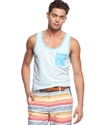 Shirt, Reverse Print Neon Tank