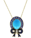 14k Gold Necklace, Turquoise (2-1/2 ct. t.w.) and 