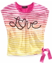 Kids Shirt, Girls Striped Top