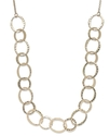 Sequin Necklace, 14k Gold-Plated Single Row Hammer