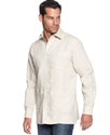 Shirt, Guayabera Button Front Shirt