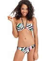 Swimsuit, Reversible Printed Halter Bikini Top Wom