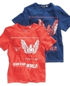 GUESS Kids Shirt, Little Boys Boys Slit Neck Eagle