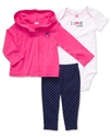 Carter's Baby Set, Baby Girls 3-Piece Hooded Cardi