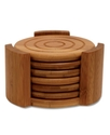 Coasters, Set of 6 Bamboo