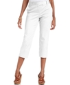 Petite Pants, Straight-Leg Cropped Slim It Up Capr