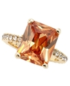 Ring, Emerald Cut Cubic Zirconia Ring (7-1/2 ct. t