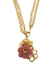 Necklace, 14k Gold-Plated Flower Pendant Necklace