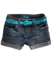 Kids Shorts, Girls Belted Shorts