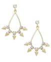Earrings, Gold-Tone Crystal Spike Drop Earrings