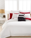 Lacoste Bedding, Solid White Brushed Twill Cushion