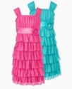 Girls Dress, Girls Tiered Ruffle Dress