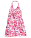 Girls Dress, Little Girls Floral Halter Dress