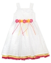 Girls Dress, Little Girls Eyelet Dress