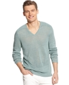 Sweater, V-Neck Linen Sweater