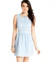 Juniors Dress, Sleeveless Cutout Beaded-Collar