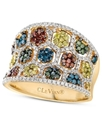 14k Honey Gold??? Ring, Mixberry??? Diamond Concav