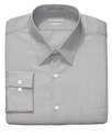 Dress Shirt, Fitted Poplin Solid Long Sleeve Shirt