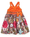 Baby Dress , Baby Girls Ruffled Top Printed Skirt