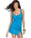 Swimsuit, Ruched Tankini Top Extended Sizes Women'