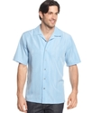 Big and Tall Shirt, Short Sleeve Piedmont Stripe W