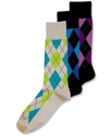 Men's Socks, Village Argyle Single Pack