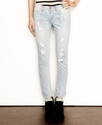 Juniors Jeans, Skinny Destroyed Light Wash
