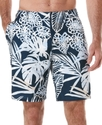 Swimwear, Leaf Print Cargo Swim Shorts