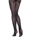 Tights, Back Seam Bow Mesh