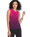 by ASL Top, Sleeveless Cowl-Neck Ombre