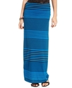 Juniors Skirt, Striped Foldover Maxi