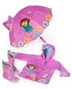 Kids Rain Gear, Toddler and Little Girls Dora Rain