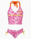 Kids Swimwear, Girls Animal-Print Tankini