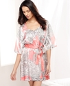 Robe, Paisley Satin Short Robe