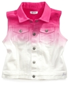 Kids Vest, Little Girls Denim Ombre Vest