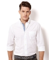 Shirt, Long Sleeve Solid Poplin Shirt
