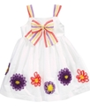 Girls Dress, Little Girls Soutache Flower Dress