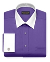 Dress Shirt, Purple Solid with French Cuffs