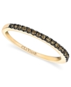 14k Gold Ring, Pave Chocolate Diamond Band (1/4 ct