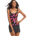 Swimsuit, Printed Empire Tankini Top Women's Swims