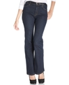 NYDJ Petite Jeans, Sarah Boot Cut, Blue Black Wash