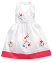Girls Dress, Little Girls Embroidered Halter Dress