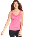 Top, Sleeveless Draped Tank Top